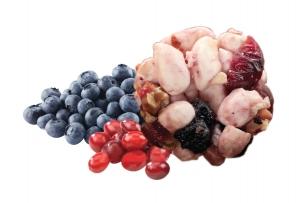 Pop Rice  Blueberry & Cranberry ข้าวอบกรอบรสบลูเบอร์รี่และแครนเบอรี่