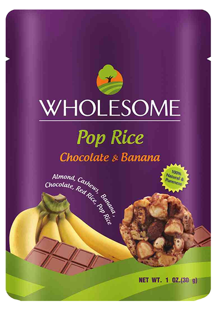 Wholesome-healthy-snacks_Pop-rice-Chocolate-banana